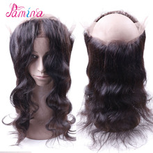 Ear to ear lace frontal closure cheap peruvian hair body wave 360 lace frontal in china