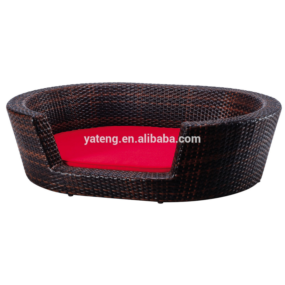 Hot Sale Handmade Poly Rattan Wicker Rattan Dog Bed