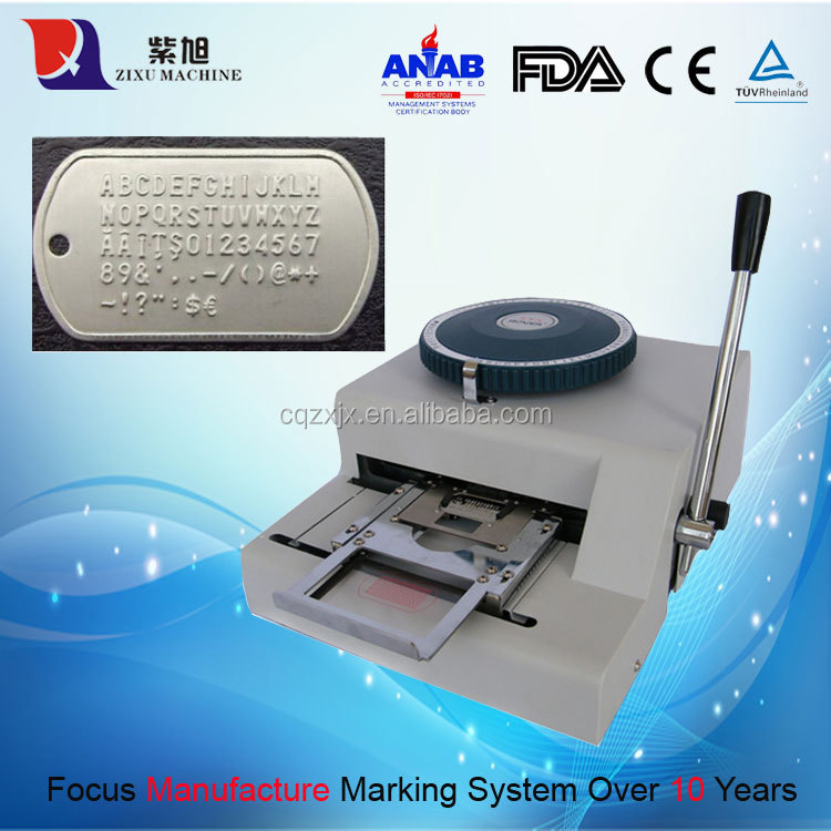 Manual Metal Sheet Card Stamping Embosser
