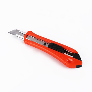 Top Selling plastic cheap knife 18mm snap-off blade push-lock cutter