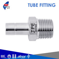Taiwan Instrumentation Double Ferrule Stainless Steel 316 Compression Fitting Straight Male Tube Adapter