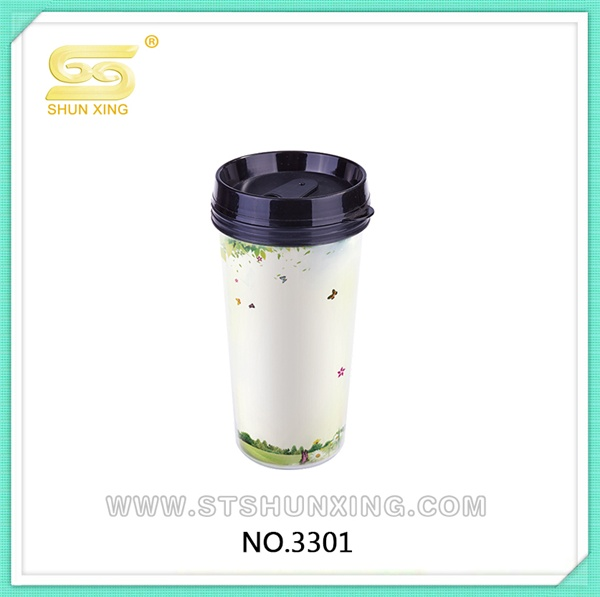 Shantou 500ML advertisement sealable cup drinking bottle plastic for sale