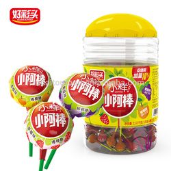 1.32KG fruit flavor lollipop candy, sweet sugar coated candy, candy lollipop