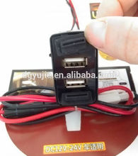 Dual USB Charger Scion Cars Blank Switch Hole