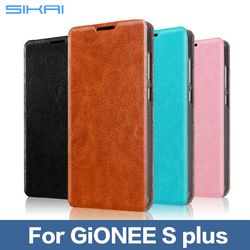 For GiONEE Real Genuine Leather Flip Case For GiONEE S Plus Cell Phone Cover
