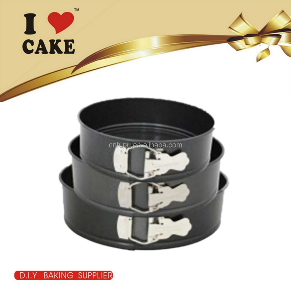 2016 Top selling 3 layer adjustable spring form round shape baking cake pan
