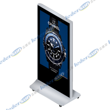 Super Thin 55 inch wheeled movable Led kiosk for shopping mall, hotel, airport, exhibition center, etc
