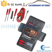 Car Roadside Emergency Tool Kit with Booster Cable