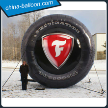 5m inflatable tire balloon large inflatable car tyre model with customized logo printing