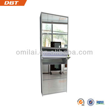 gloss MDF Mirror Shoes Cabinet with Five Drawers