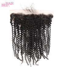 Brazilian Kinky Curly 360 Lace Frontal Remy Hair Hair Closure with Lace Frontal
