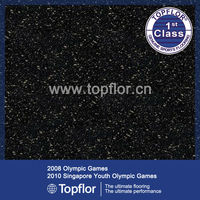 BLACK Sparkle Glitter Effect Vinyl Safety Flooring For Nurseries/ Toilets/Corridors
