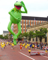 Customized New Products Inflatable Kermit the Frog For Parade