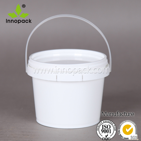 5 liter oil drum printed plastic paint pail with lid
