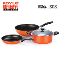 Modern non stick kitchen dinnerware sets including wok / fry pan / stockpot