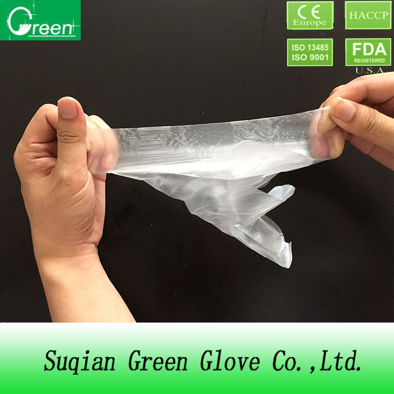 CE/ISO certificated Medical CPE Gloves