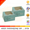 hot sale single logo printed foldable pvc window paper doughnut box