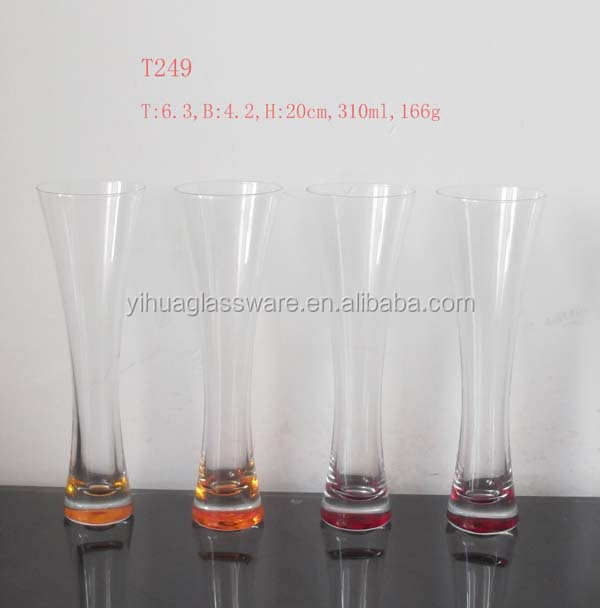T249 wholesales colorful juice glass /stemware /brandy glass