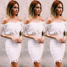 F20079A Hot sale embroidery dress hook flower strapless lace mini dress for women