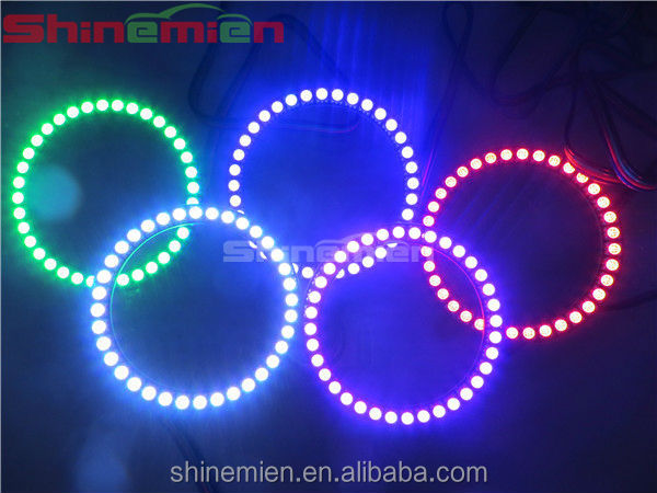 80mm 5050 36SMD Multicolor RGB Color changing angel eyes led Halo rings