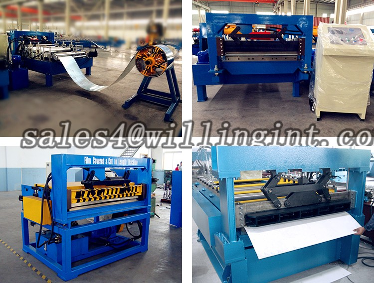 Simple automatic cold rolled stainless steel coil cut to length machine