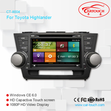 In-Dash Multimedia Navigation Wince 6.0 car entertainment system for Toyota Highlander 2008- 2013
