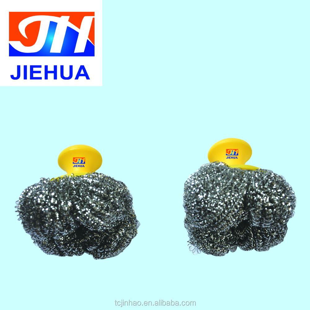 [Household] Stainless Steel Scourer with Handle for Kitchen Cleaning