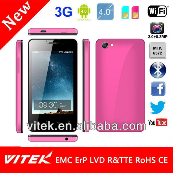 4.0 inch MTK6572 Dual Core Mobile Android 3G Smart Phone