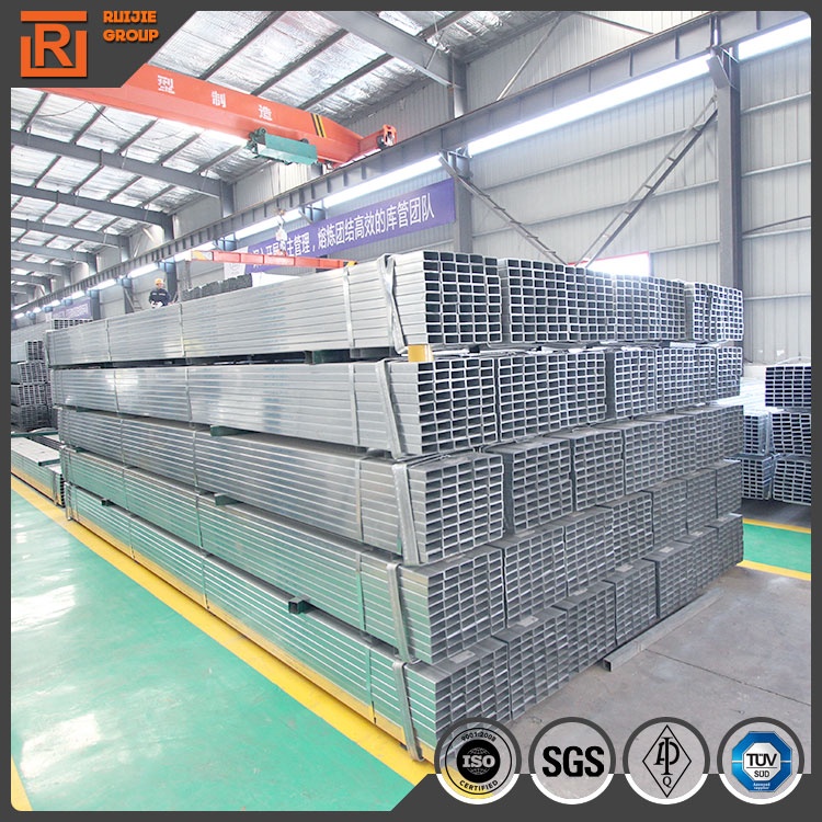 Galvanized square steel pipe with best price, steel square tubing standard sizes thin wall
