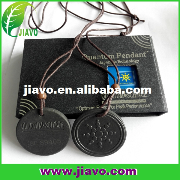 black quantum lava rock energy pendant/bio scalar energy pendant