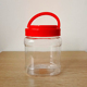 China Factory Price Pet Bottle For Honey 250/500/7501000Ml Glass Storage Jam Sauce With Portable Plastic Red Yellow Lid