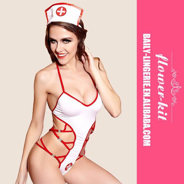 Cheap Wholesale Nurse Teddy Lingerie Sexy Chinese Nurse Costume
