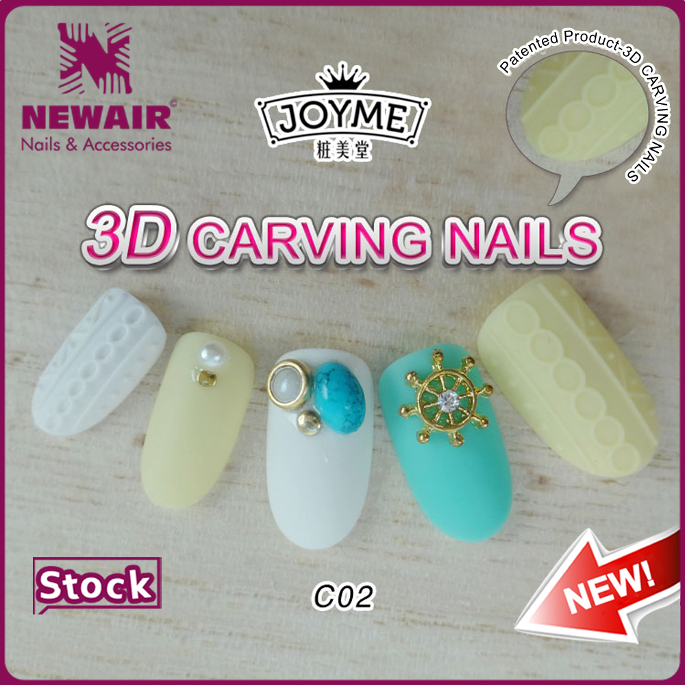 Professional acrylic nails full curved nail tips private label free