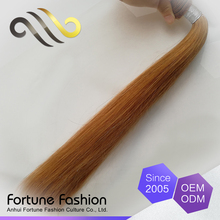 Hot sale hair weave color #27,top quality hair weave with colored tips,100%Chinese hair bundles