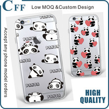 For iPhone 7 Silicone Case Panda Bamboo Ultra Slim Premium TPU Case Gel Rubber Soft Skin Protective Cover for Samsung S5 case