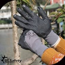 SRSAFETY 15G nylon spandex liner micro foam liquid nitrile rubber/safety glove nitrile dotted