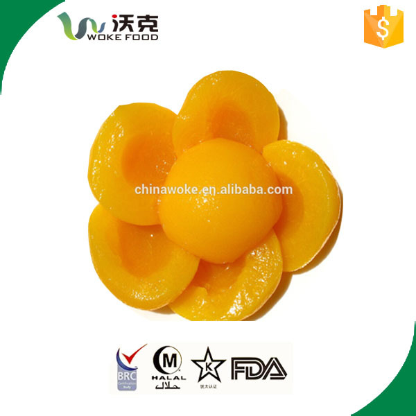 IFS certificate Super sweet fresh yellow peach canned with OEM