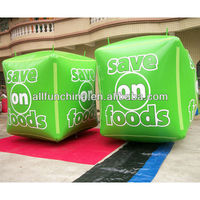 Green apple buoy for water event advertising
