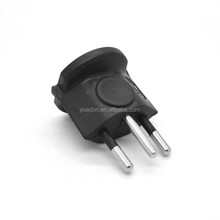 3 pin to 1pin euro to swiss adapter plug with CE&Rohs certificate