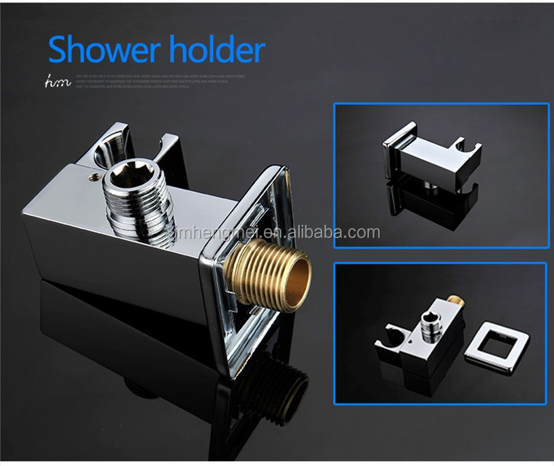 Modern Water Saving Shower Head Set 10'' Air Injection Shower Head Wall Mounted Rain Shower Faucets
