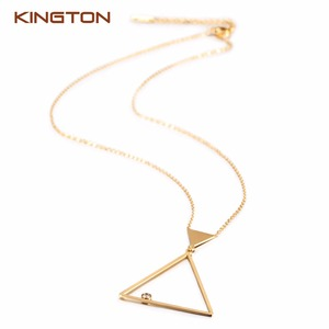 Women's 18K gold jewelry necklace small set,very light gold zircon diamond mangalsutra with chain,gold necklace designs