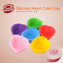 Small Colorful Heart Silicone Muffin Cake Baking Cupcake Liner Holder