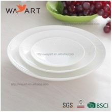 BSCI Hand Made White Round Shaped Ceramic Sushi Dish
