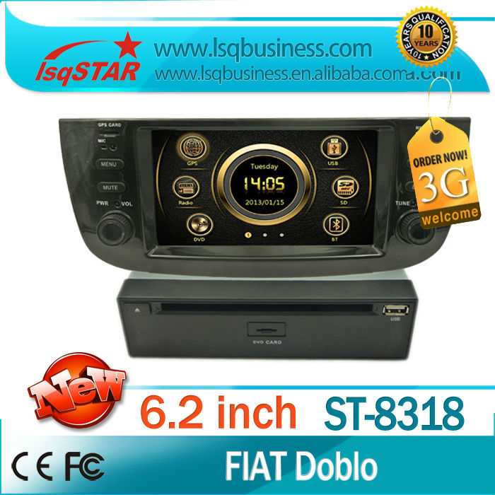 Car gps dvd player for Fiat Doblo with 3G DVD GPS 6-CD DTV ISDB-T foryou dvd loader New model for Agent!