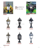 Outdoor Antique Garden Pillar Fence Lamp Post Gate Light