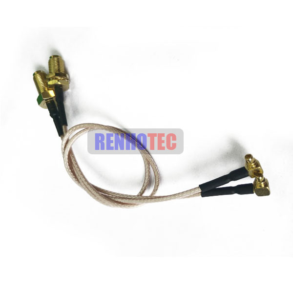SMA Female To SMB Female Crimp Type Coaxial Cable Assembly
