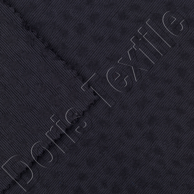 COTTON POLYESTER YARN DYED JACQUARD