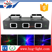 Programmable Laser Show Light System Operate 3 Heads RGB Multi Color Lazer Effect Lights