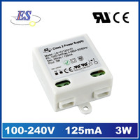 3W 120mA 240VAC TO 24VDC Constant Voltage small LED Driver Power Supply from Dongguan factory