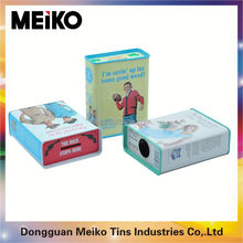 square packaging gift book shape tin box